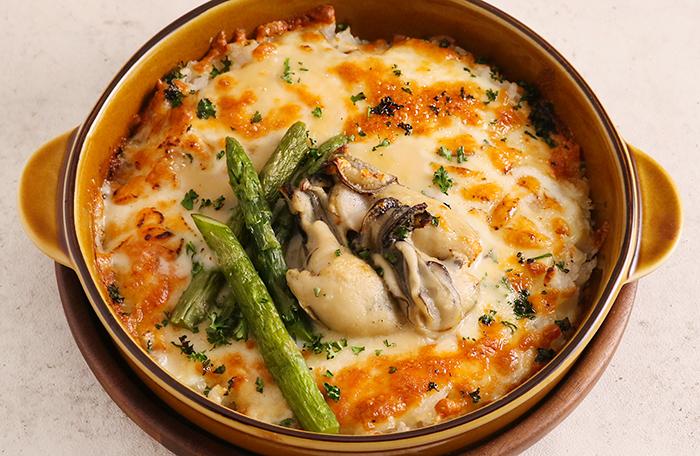 牡蠣とアスパラのドリア