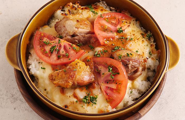 鶏肉とトマトのバターチキンカレードリア