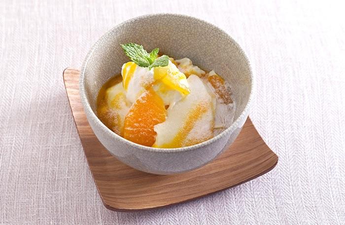 柚子オレンジの豆乳プリン