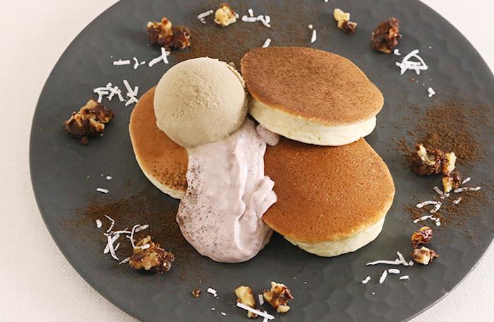 餡子チーズクリームとほうじ茶アイス