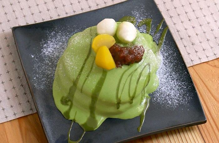 栗小豆の抹茶クリームパンケーキ