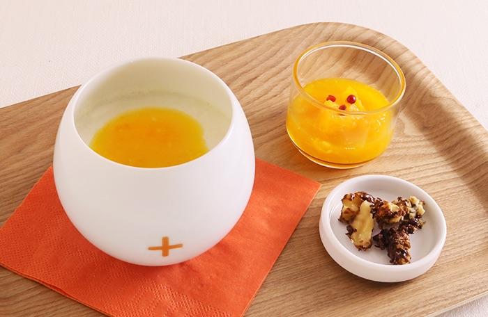 オレンジ&ペッパーの豆乳プリン
