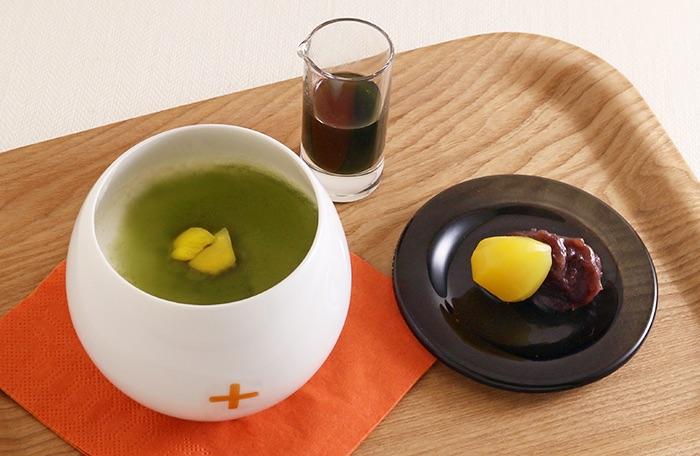 抹茶&栗の豆乳プリン