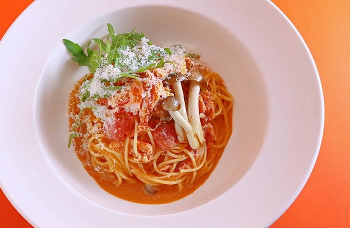 紅ずわい蟹の豆乳トマトクリーム