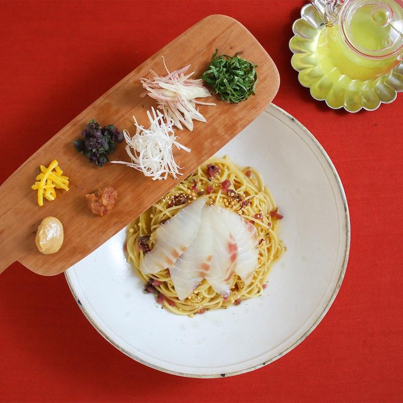 「鯛と五穀梅しそのおだし茶漬けぱすた」 1,280円